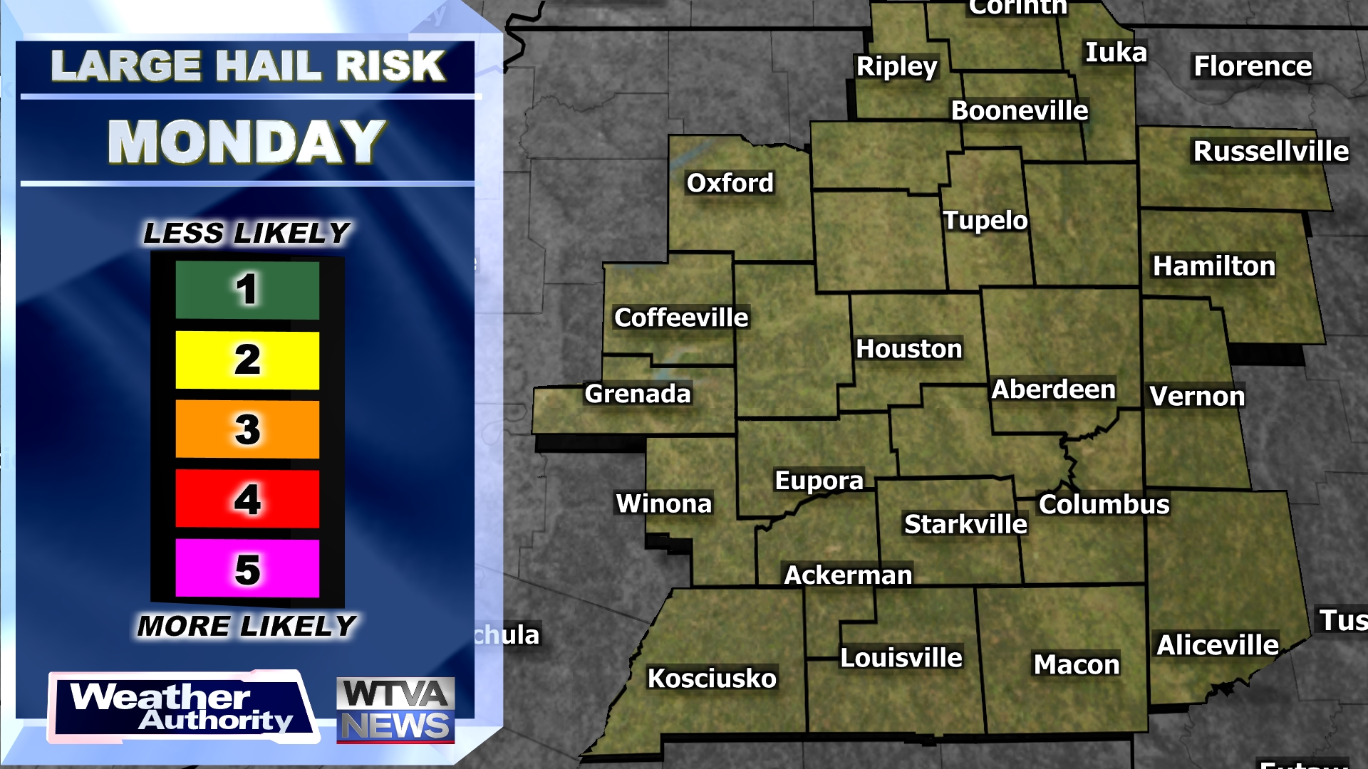 Today's Large Hail Risk